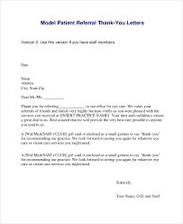 thank you for the referral letter letters font