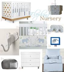 elephant theme baby nursery design inspiration simplified bee