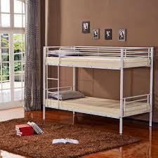 metal bunk bed frame ladder unit 2 separate single space saving