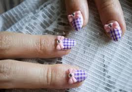 60 beautiful gingham style nail art design ideas