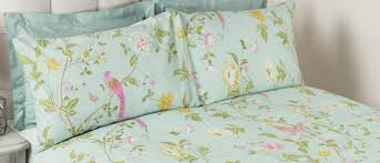 summer palace duck egg cotton bedset laura ashley