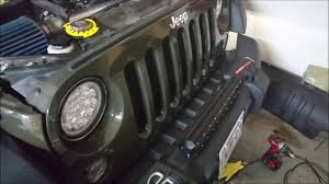 2012 jeep liberty light bar how to install and wire a front light bar on bumper jeep wrangler