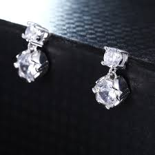 earrings brand shining aaa zirconia stud earrings for women fashion brand jewelry