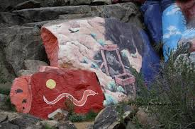 chloride murals diary of a mad baby boomer there are ancient native american petroglyphs all around the murals rather the murals were painted amidst them i have to assume the hallucinogens of