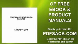 power equipment honda manuals video dailymotion