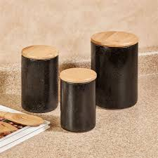 kitchen canisters black laxton black stoneware kitchen canister set