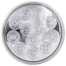 4 led lights mirror circle white 4 round 12 diode led back up reverse light