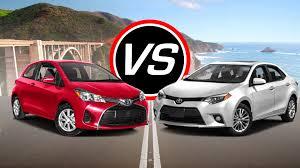 yaris 2016 toyota yaris vs 2016 toyota corolla spec comparison youtube