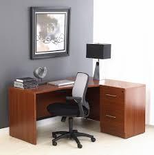File Cabinet Seat Beguiling Dark Brown Wooden Corner Study Desks Grey Wall Paint