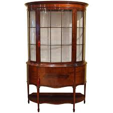 Antique Edwardian Display Cabinet Grand Edwardian Mahogany Display Cabinet For Sale At 1stdibs