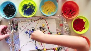 painting with marbles youtube