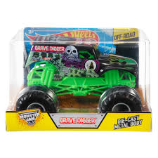 monster truck grave digger video wheels monster jam 1 24 grave digger die cast vehicle