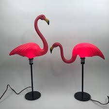 pink flamingo lawn ornaments pink flamingo l pair midcentury 1960 s lawn ornament cer rv