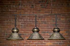 Antique Brass Kitchen Island Lighting Custom Decorative Antique Brass Hanging Pool Table Light For The