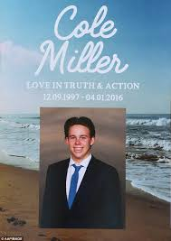 Programs For Funeral Services Parents Of Cole Miller Killed By U0027one Punch Attack U0027 In Brisbane