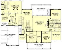 farmhouse style house plan 4 beds 3 50 baths 2742 sq ft plan