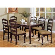 7pc Dining Room Sets Venetian Worldwide Townsville I 7 Piece Dark Walnut Dining Set