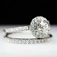 engagement rings sale sale beautiful 76ct 14k white gold solitaire halo diamond