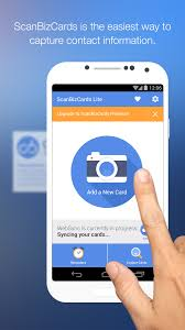 scanbizcards lite scan card android apps on play