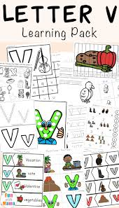 letter v worksheets for preschool kindergarten fun with mama