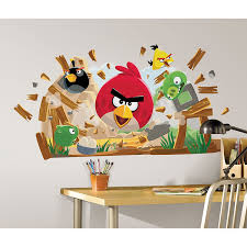 roommates rmk angry birds peel and stick giant wall decals roommates rmk angry birds peel and stick giant wall decals decorative appliques amazon