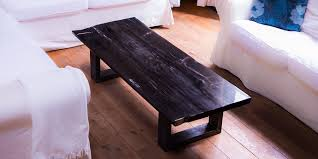 Petrified Wood Bench Petrified Wood Tables With Custom Table Legs Indosign