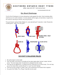 Challenge Knot Six Knot Challenge Southern Ontario Knot Tyers