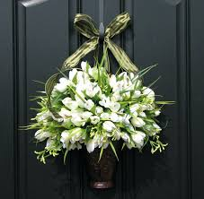 front door decorating ideas for spring diy christmas wreath