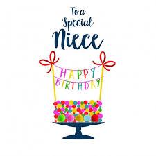 birthday cards for niece birthday card niece pompom to a special niece happy birthday