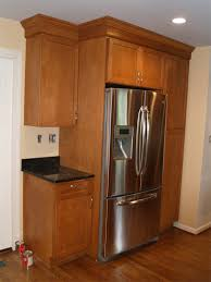 Average Cost For Kitchen Cabinets by Cabinets Around Refrigerator Kitchen Design Regarding Kitchen