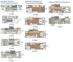coleman travel trailers floor plans 2016 light travel trailers by highland ridge rv floor plans for