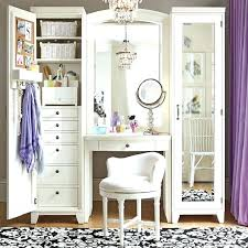 Large Bedroom Vanity Mirrored Vanity Table Set White Makeup Table With Drawers And