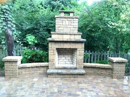 Stacked Stone Outdoor Fireplace - lovely stone fireplace outdoor suzannawinter com