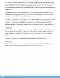 wordpress development proposal sample template wordpress