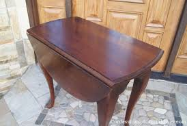 oval drop leaf table drop leaf table makeover confessions of a serial do it yourselfer