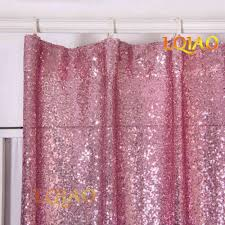 Pink And Gold Curtains 2pcs Sequin Backdrop Curtain 3x8ft Shimmer Pink Gold Sequin