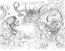 super godzilla sketch study rendragonclaw deviantart