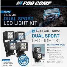 Jeep Led Lights Pro Comp Jeep Jk Pillar Dual Sport Led Light Kit 76410p