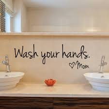 wash your hands sign mom love quote wall sticker home decor black wash your hands sign mom love quote wall sticker home decor black vinyl art decal removable toilet bathroom wall decals in wall stickers from home garden