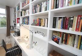Free Bookshelves Floor To Ceiling Bespoke Bookshelves Keep The Office Organized And