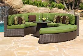 Round Outdoor Sofa Curved Outdoor Sectional Sofa Outdoorlivingdecor
