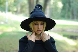 Halloween Costume Witch Witch Hat Wizard Hat Black Felted Hat Wool Halloween