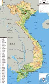 South Asia Physical Map by Maps Of Vietnam Detailed Map Of Vietnam In English Tourist Map