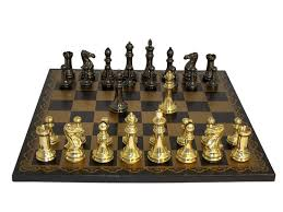 amazon com solid brass staunton chess set toys u0026 games