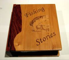 wooden photo album fishing stories photo album large