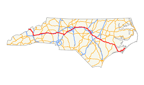 Map Of North Carolina Cities U S Route 70 In North Carolina Wikipedia
