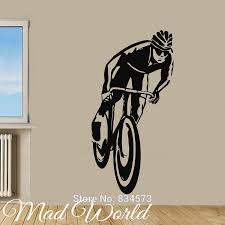 bicycle world page black friday mad world cyclist bicycle rider boy sport wall art stickers decal home diy decoration decor mural removable