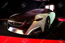 peugeot auto france paris january 30 peugeot onyx concept cars exposition on