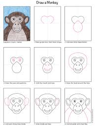 draw a monkey art projects for kids