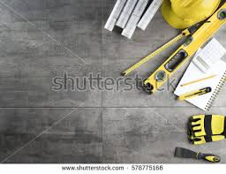 contractor concept background top view place stock photo 578775166